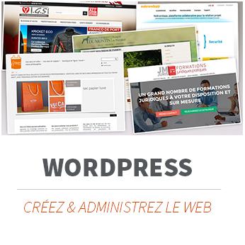 Formation Wordpress, créer un site internet et l'administrer, le E-commerce simple avec WooCommerce pour votre boutique en-ligne. Formation à Limoges et partout en France